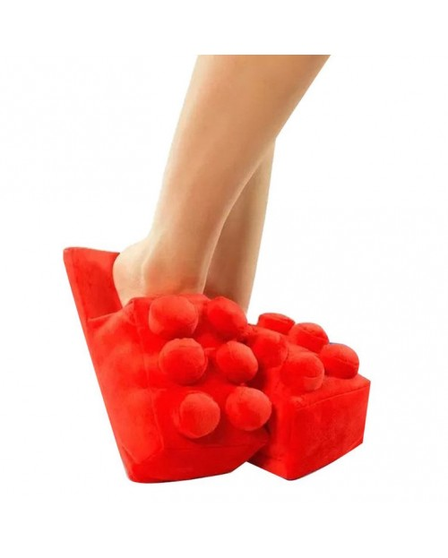 Тапочки «Lego» красный